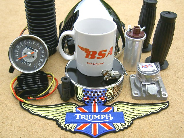 Classic British motorcycle parts and spares.